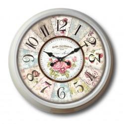 FLORAL WALL CLOCK 70 CM