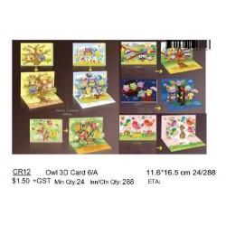 6/A ***Owl 3D Card