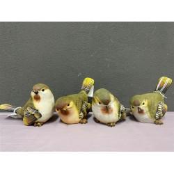 ***Green & Cream birds (L)