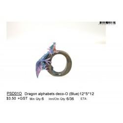 ***Dragon alphabets deco-O (Blue)