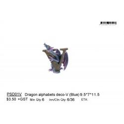 ***Dragon alphabets deco-V (Blue)
