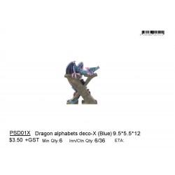 ***Dragon alphabets deco-X (Blue)