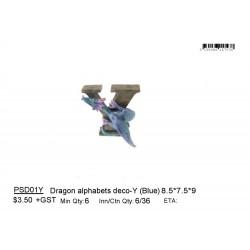 ***Dragon alphabets deco-Y (Blue)