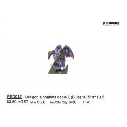 ***Dragon alphabets deco-Z (Blue)