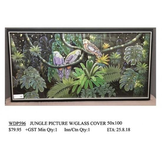 ***JUNGLE PICTURE W/GLASS COVER