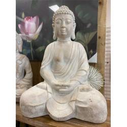 BUDDHA STATUE - BEIGE LARGE !