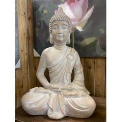BUDDHA STATUE - BEIGE SMALL !