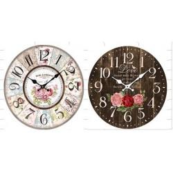 FLOWER WALL CLOCK 2/A