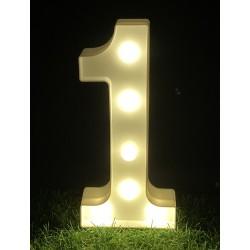 """LED LIGHT UP NUMBER""""1"""""""