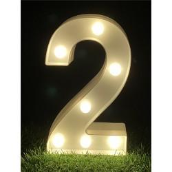 """LED LIGHT UP NUMBER""""2"""""""