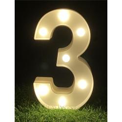 """LED LIGHT UP NUMBER""""3"""""""