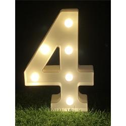 """LED LIGHT UP NUMBER""""4"""""""