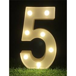 """LED LIGHT UP NUMBER""""5"""""""