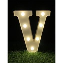 """LED LIGHT UP LETTER""""V"""""""