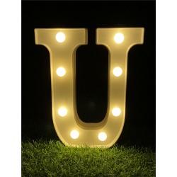"""LED LIGHT UP LETTER""""U"""""""