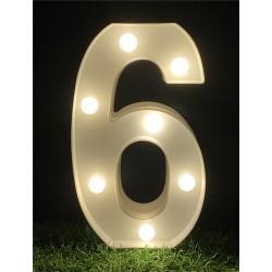 """LED LIGHT UP NUMBER""""6"""""""
