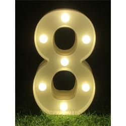 """LED LIGHT UP NUMBER""""8"""""""