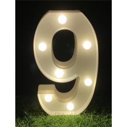 """LED LIGHT UP NUMBER""""9"""""""