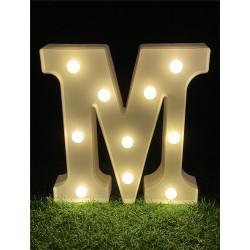 """LED LIGHT UP LETTER""""M"""""""