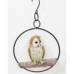 HANGING OWL IN RING