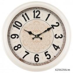 CREAM MANDALA CLOCK 62CM