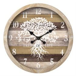 WOODEN TREE OF LIFE CLOCK 60CM