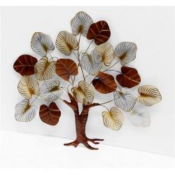 BROWN METAL TREE WALL ART