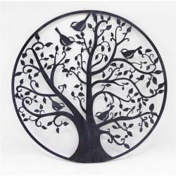 BLACK TREE OF LIFE WALL ART