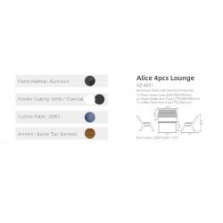 ***Alice 4pc Lounge Setting