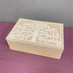 WOODEN BOX - TREE OF LIFE