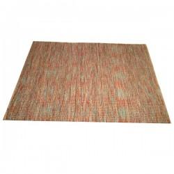 Jute/Acrylic carpet rug 170x240 red blue mix colour