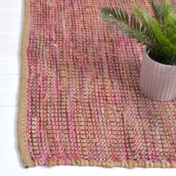 Jute/Acrylic carpet rug 170x240  red pink mix colour