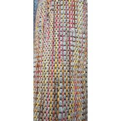 Jute/Acrylic carpet rug 170x240 -- YELLOW RED GREY